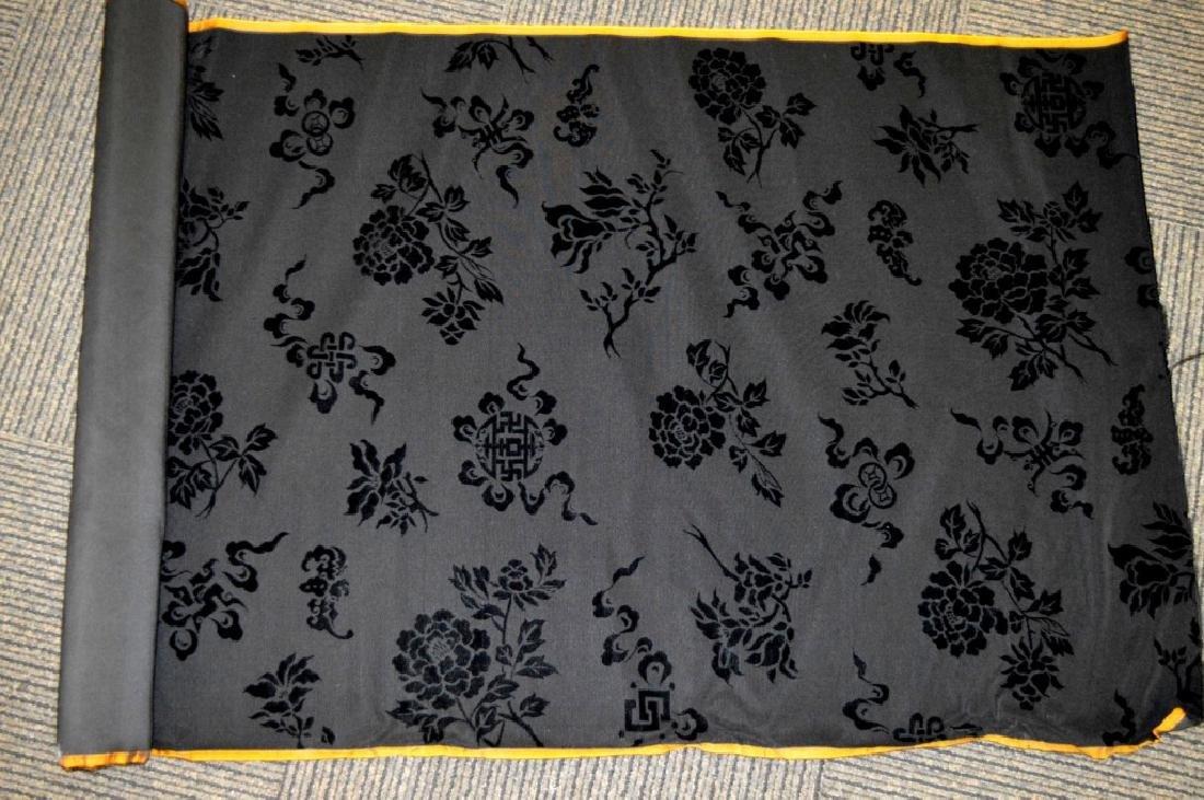 Bolt Fine Chinese Voided Silk Velvet in Black