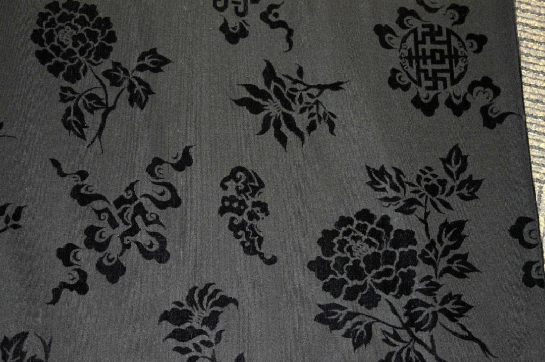 Bolt Fine Chinese Voided Silk Velvet in Black - 2