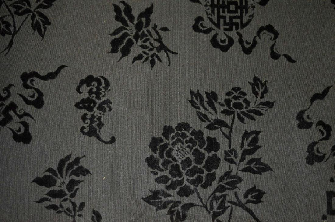 Bolt Fine Chinese Voided Silk Velvet in Black - 3