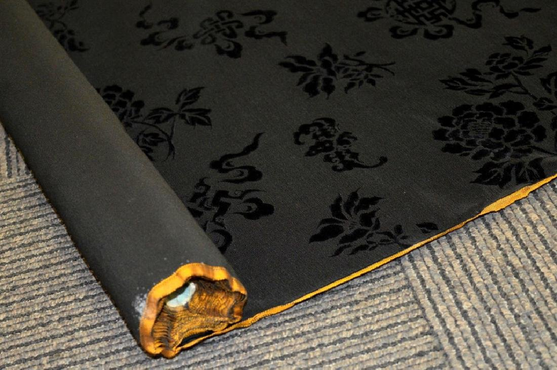 Bolt Fine Chinese Voided Silk Velvet in Black - 4