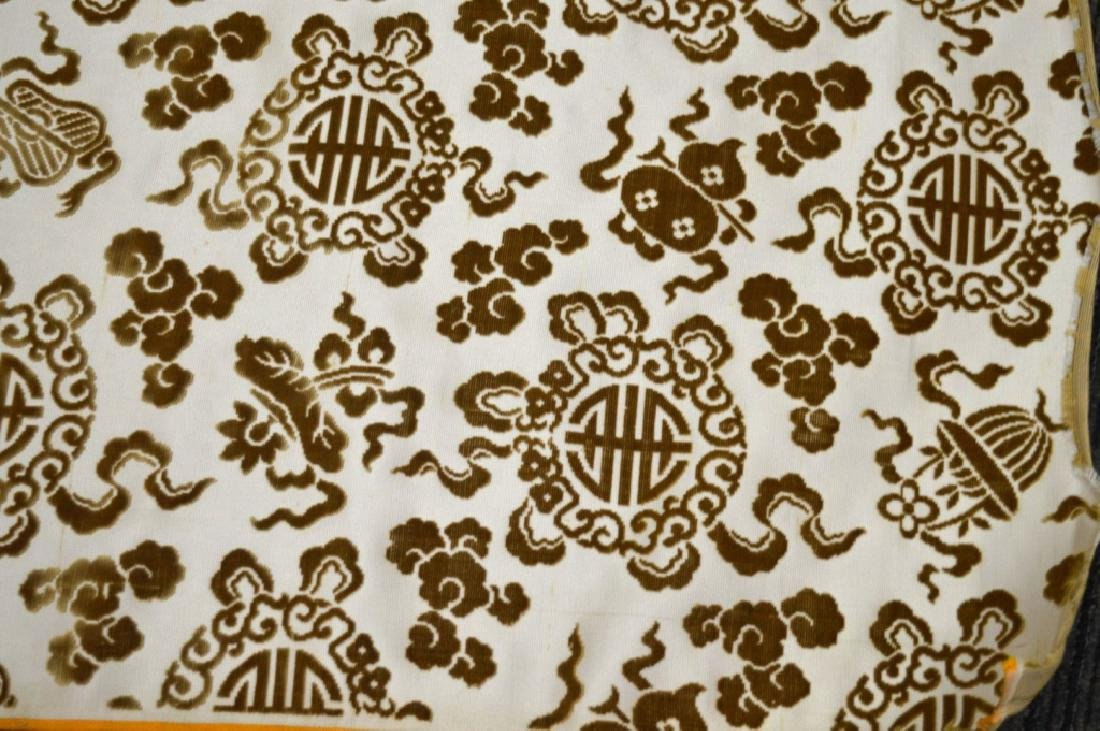 Lg Bolt Fine Chinese Voided Silk Velvet in Yellow - 2