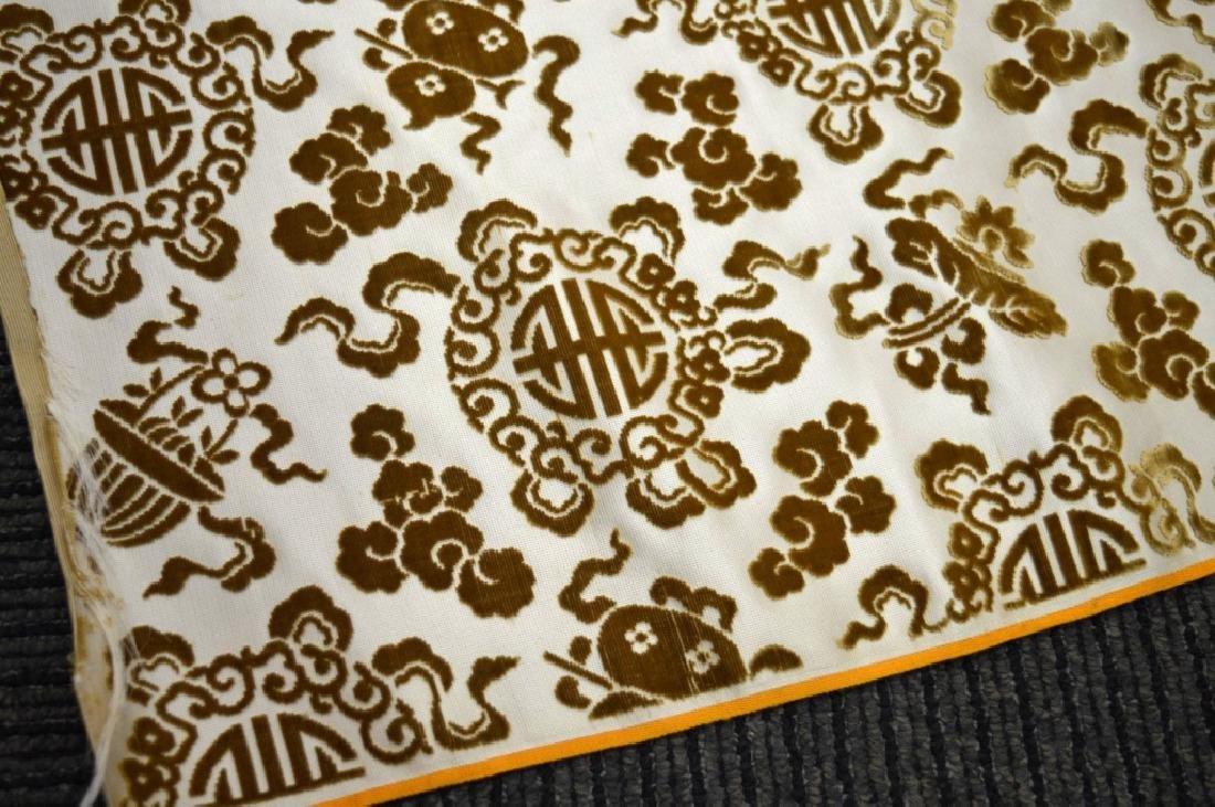 Lg Bolt Fine Chinese Voided Silk Velvet in Yellow - 3