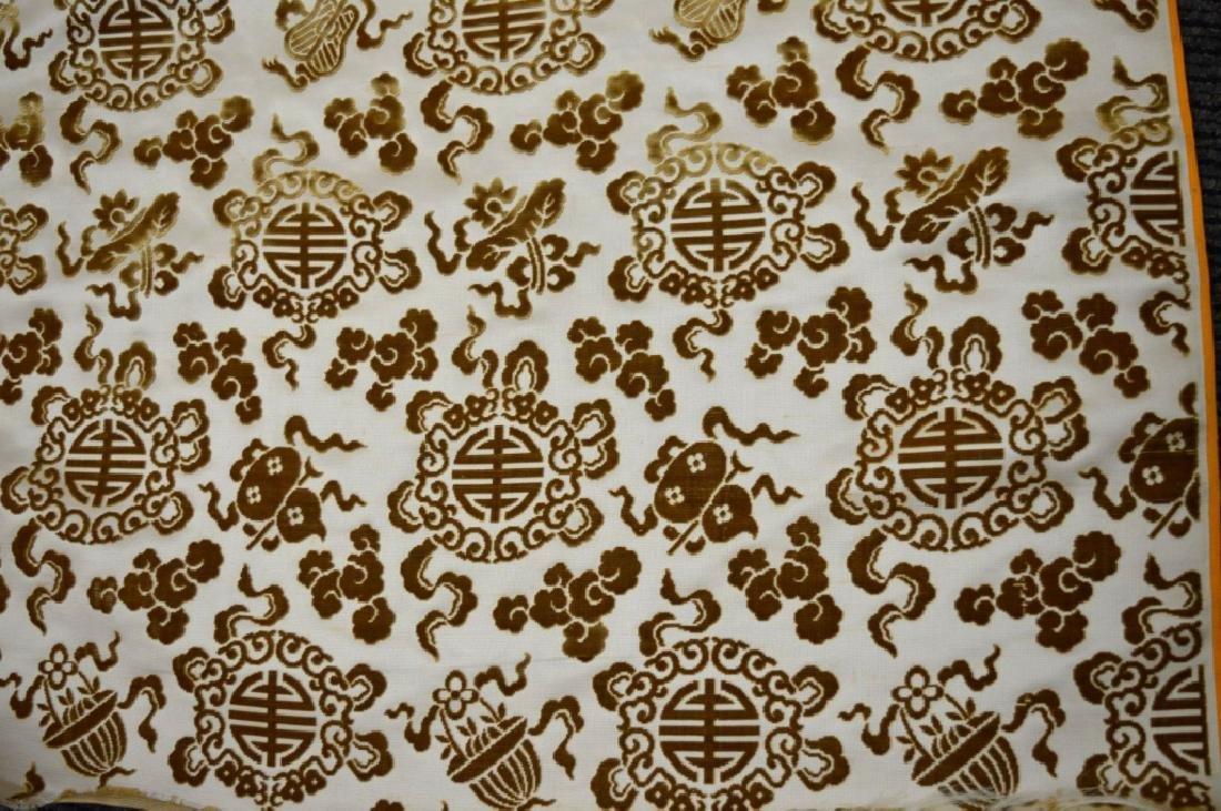 Lg Bolt Fine Chinese Voided Silk Velvet in Yellow - 4