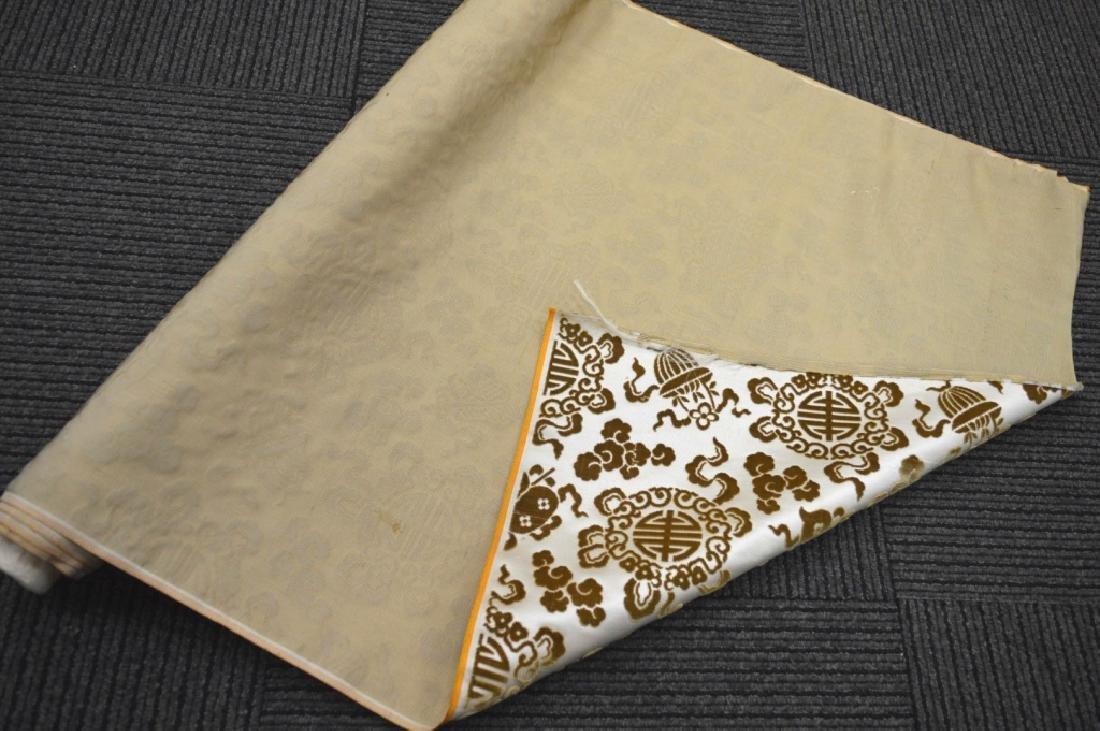 Lg Bolt Fine Chinese Voided Silk Velvet in Yellow - 5