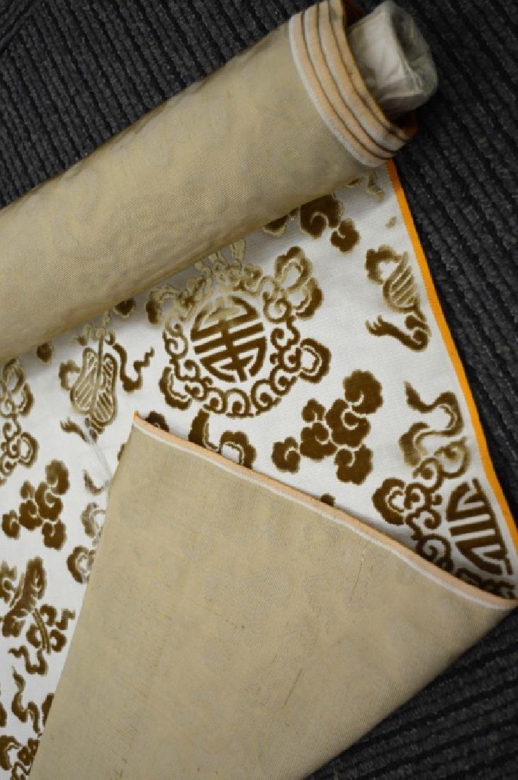 Lg Bolt Fine Chinese Voided Silk Velvet in Yellow - 6