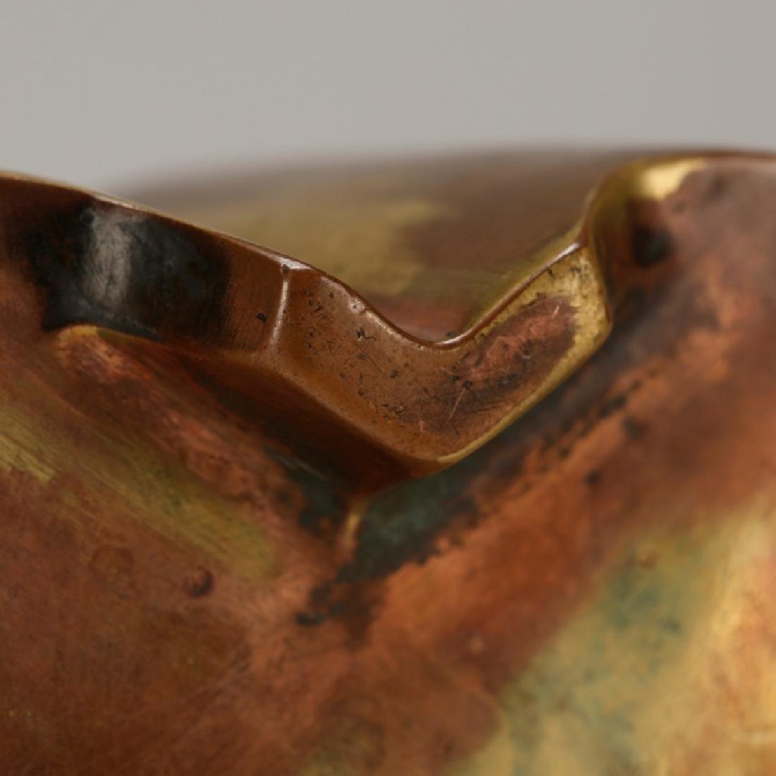 Chinese Gilt Bronze Quatrefoil 2 Handle Censer - 9