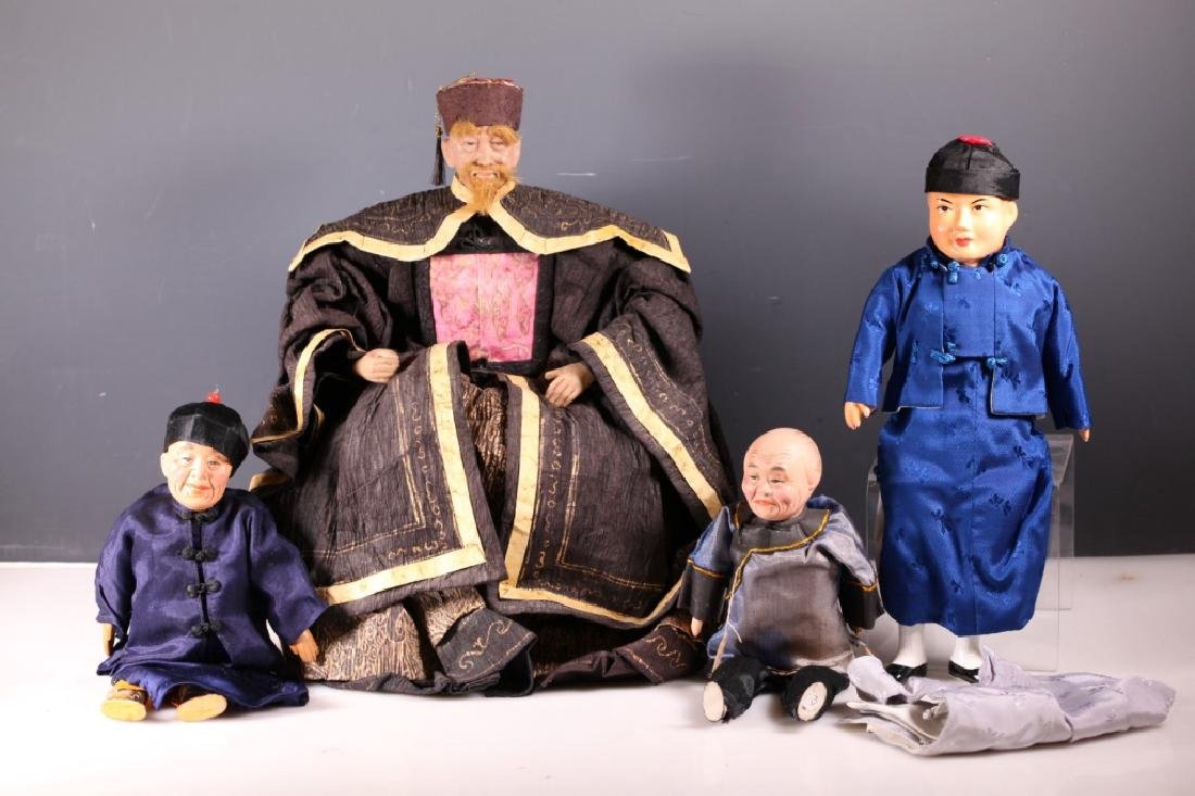 4 Antique Chinese Dolls