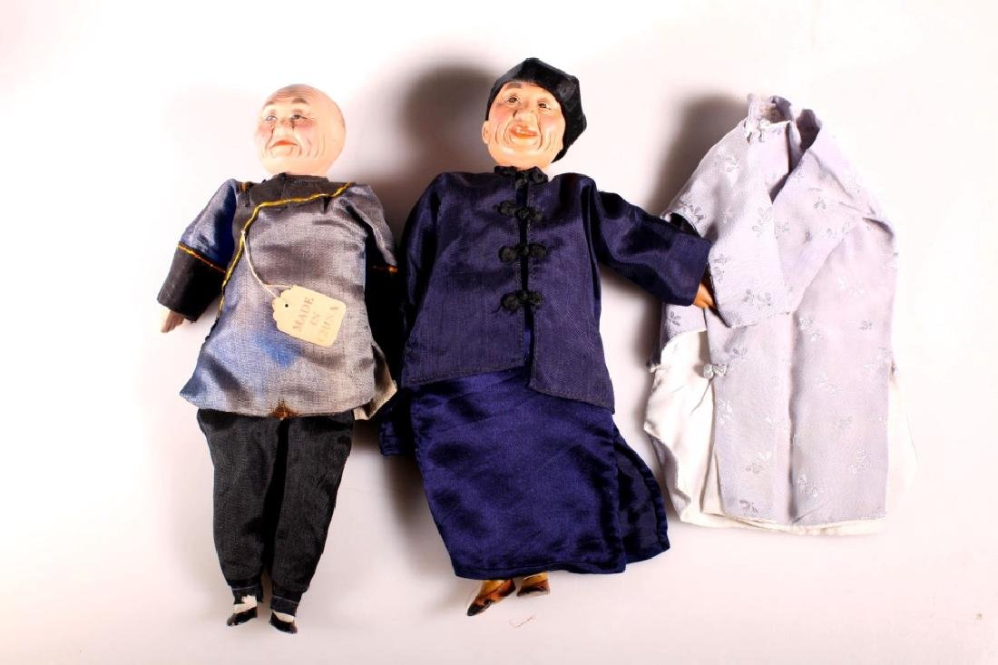 4 Antique Chinese Dolls - 4
