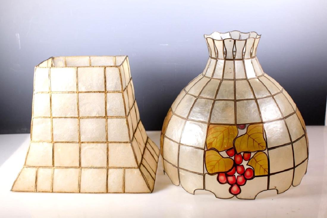 Two Lampshades Made out of Shaped Shells