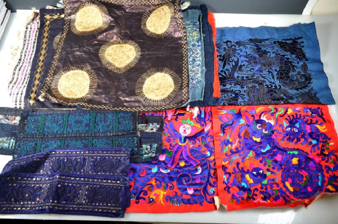 Group of 9Central Asian & SE Asian Embroideries