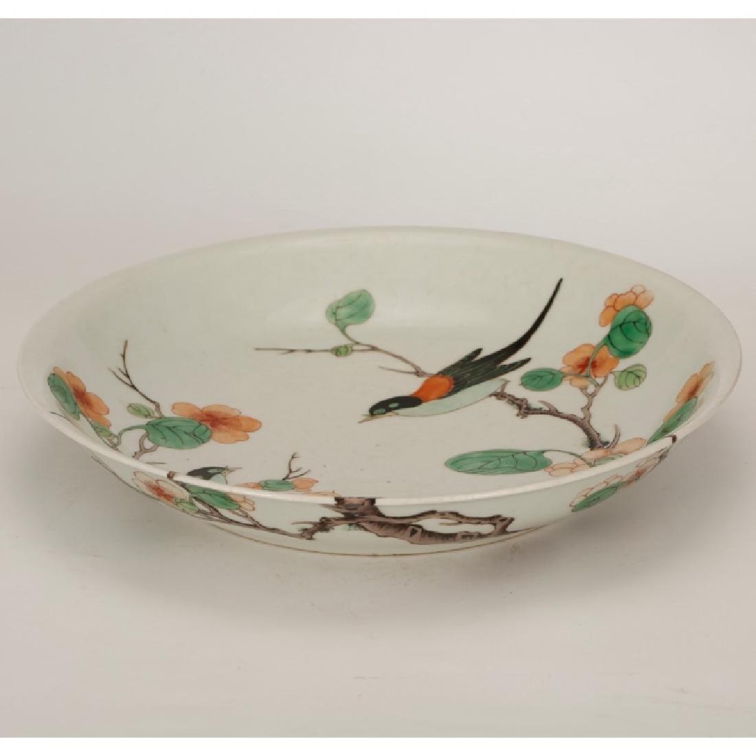 Good Chinese Famille Verte Porcelain Plate