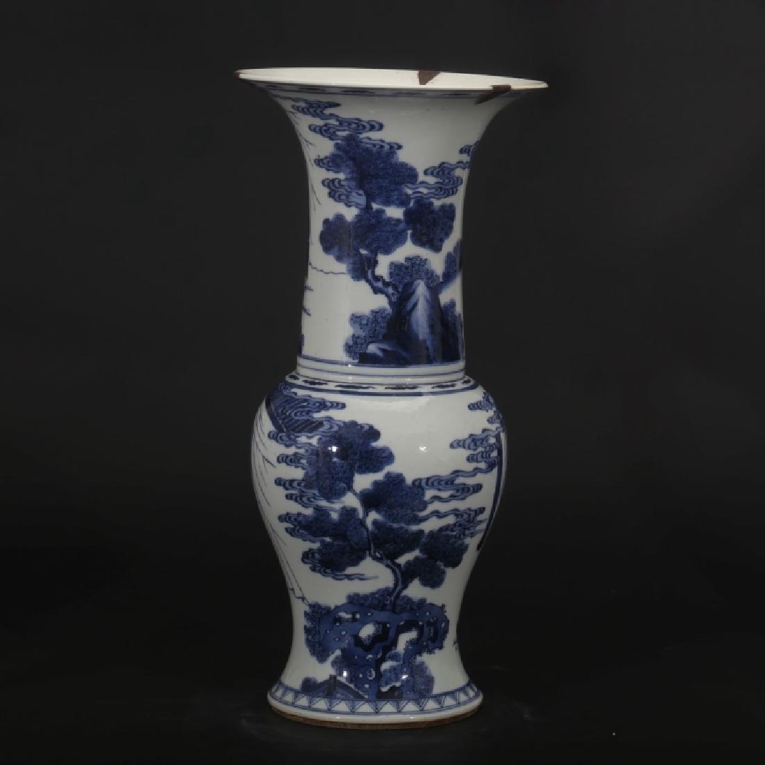 Good Chinese B & W Porcelain Yen-Yen Vase