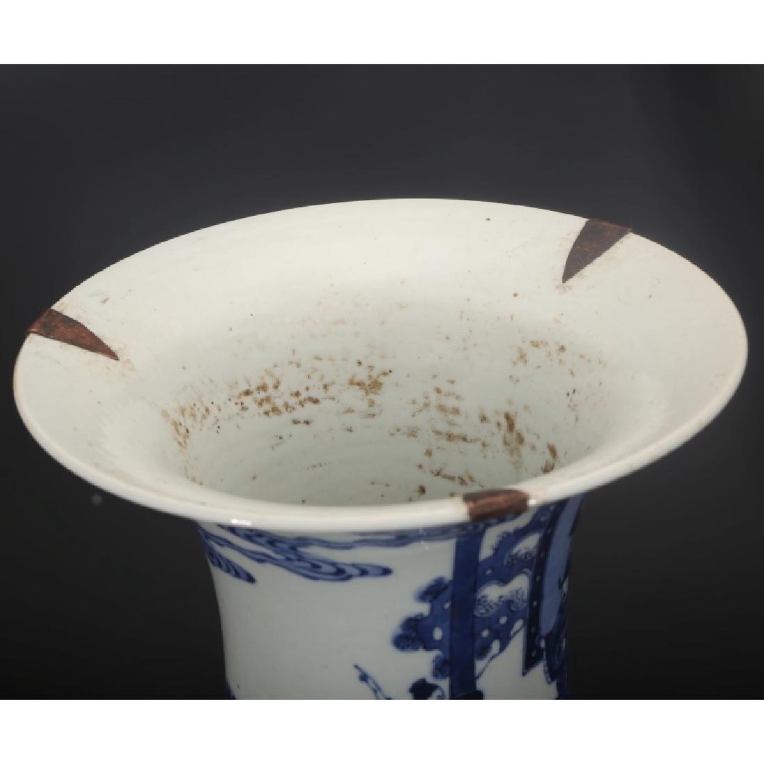 Good Chinese B & W Porcelain Yen-Yen Vase - 3