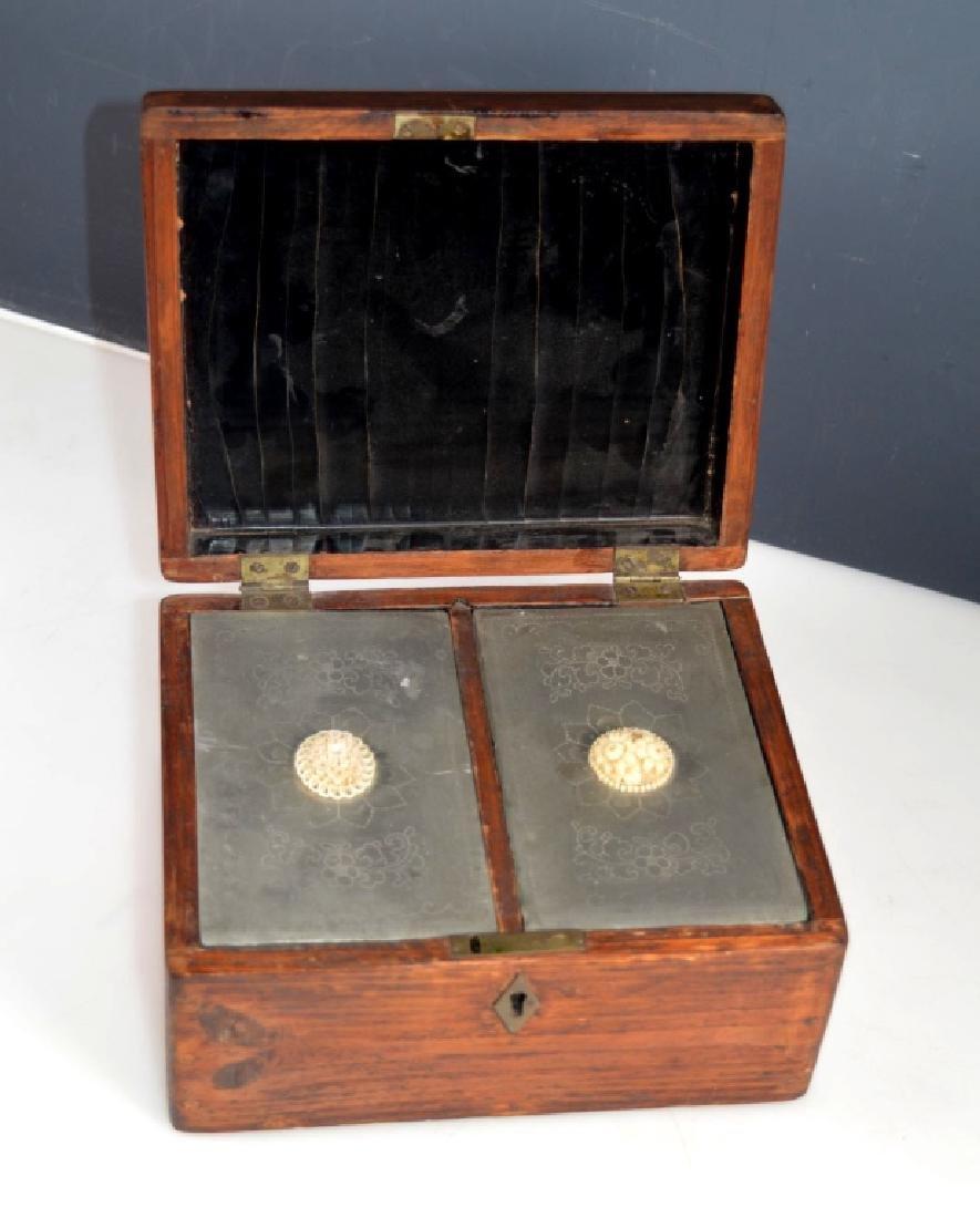 Antique Chinese Tea Storage Lock -Box