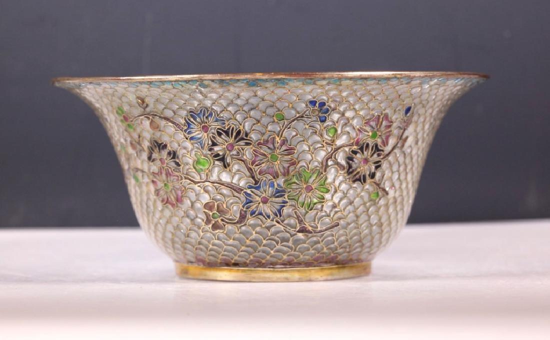 Chinese Plique-a-Jour Transparent Enamel Bowl - 2