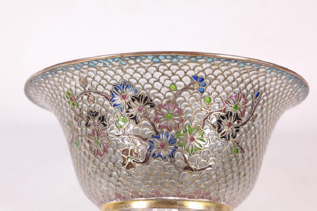 Chinese Plique-a-Jour Transparent Enamel Bowl - 4
