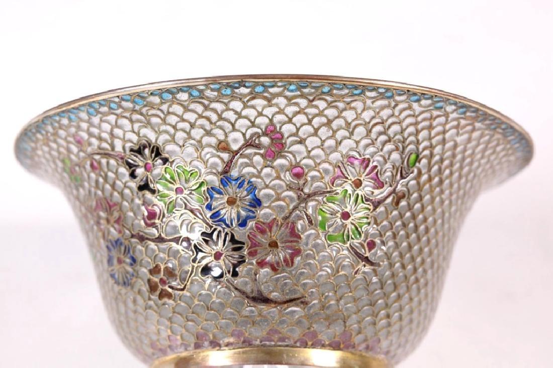 Chinese Plique-a-Jour Transparent Enamel Bowl - 5