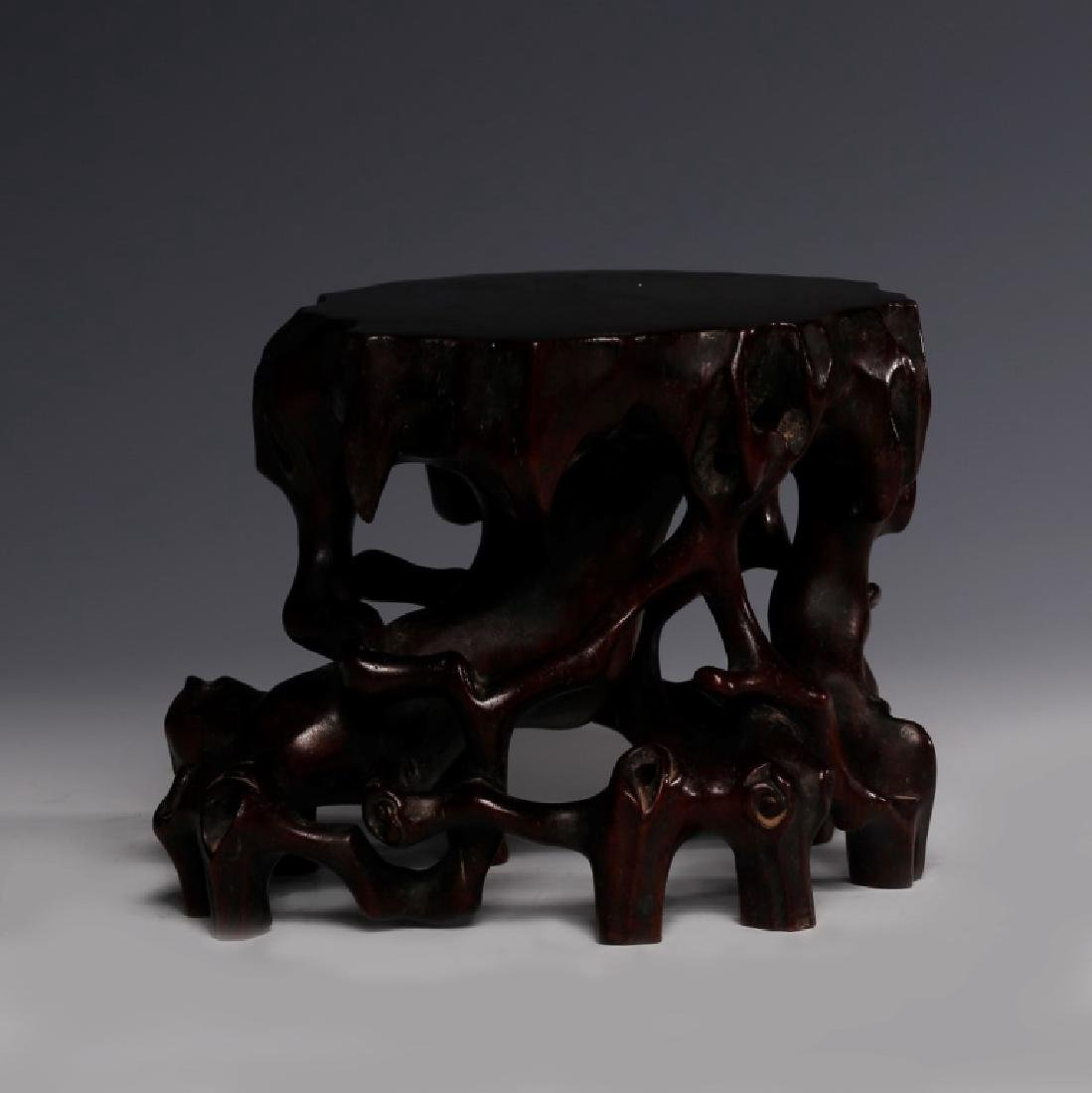 Chinese Root Shaped Hardwood Stand