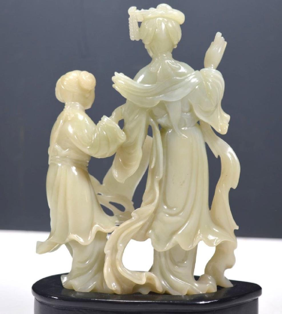 Fine Chinese Carved Jade Figures - 7