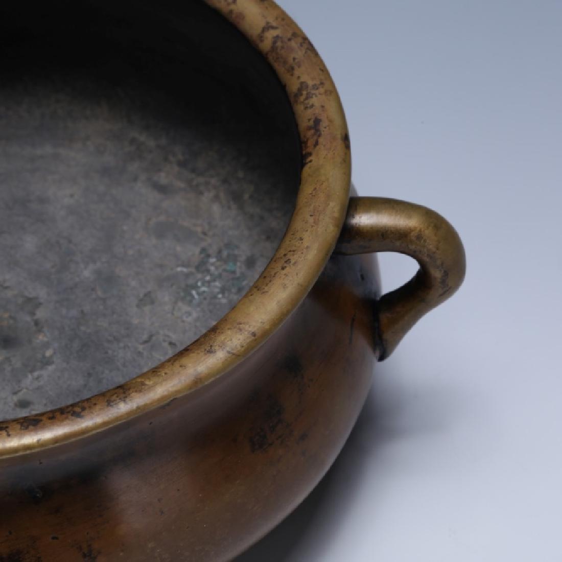 Chinese 18/19 C Cast Bronze Censer - 3