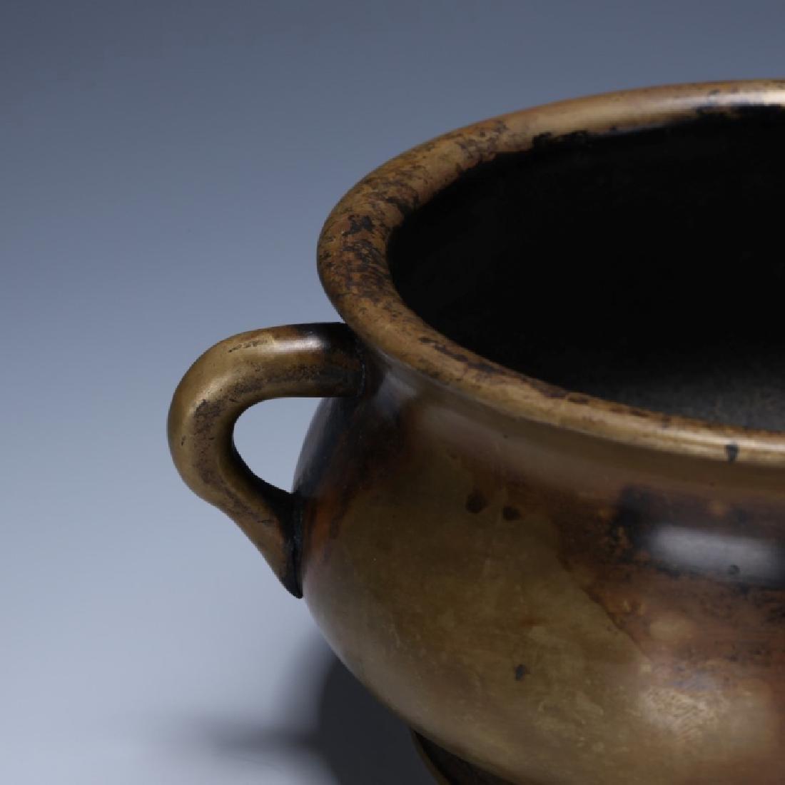 Chinese 18/19 C Cast Bronze Censer - 4
