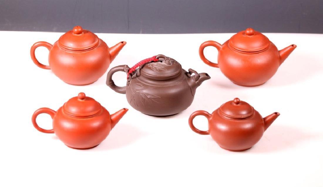 Group 5 Yixing Teapots; 4 Purchased Yixing 1981