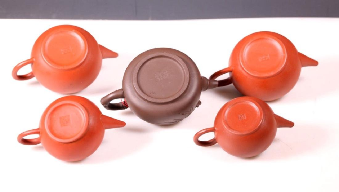 Group 5 Yixing Teapots; 4 Purchased Yixing 1981 - 2