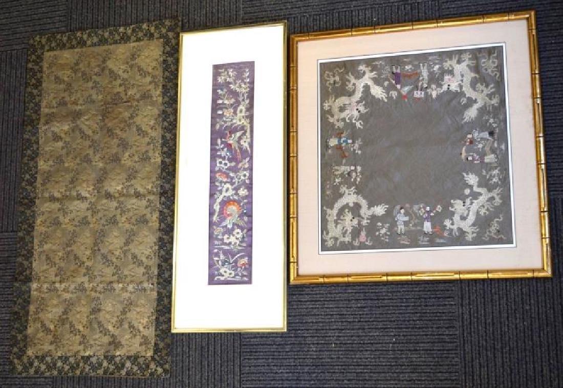 Chinese Silk Sleeve, Square Scarf, Japanese Silk