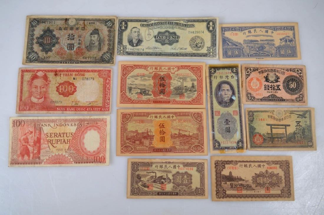 Group 6 Chinese; 3 Japanese, 3 SE A Paper Money