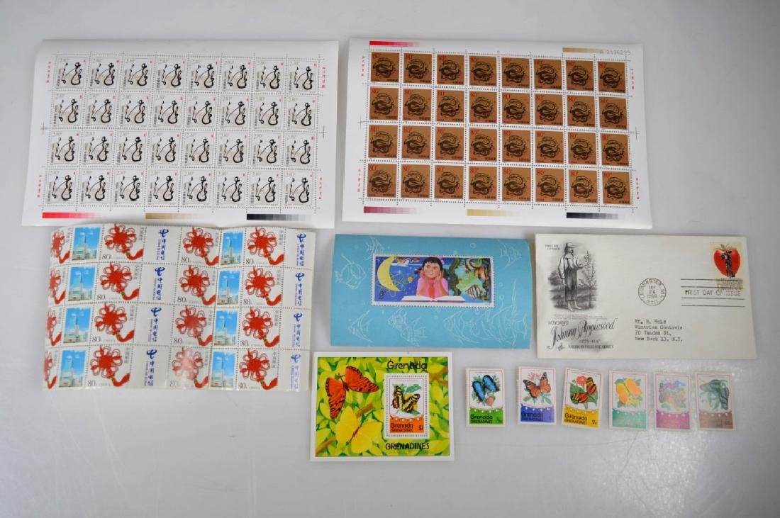 3 Blocks Chinese Stamps, 1 Girl Stamp, 6 others