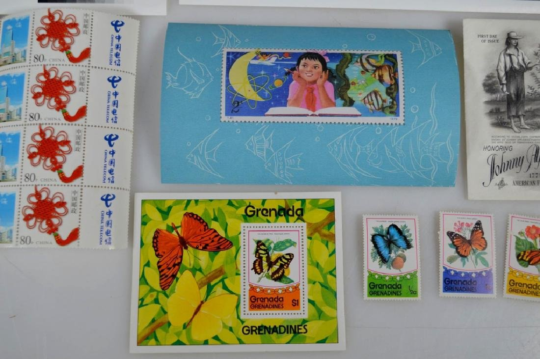 3 Blocks Chinese Stamps, 1 Girl Stamp, 6 others - 6
