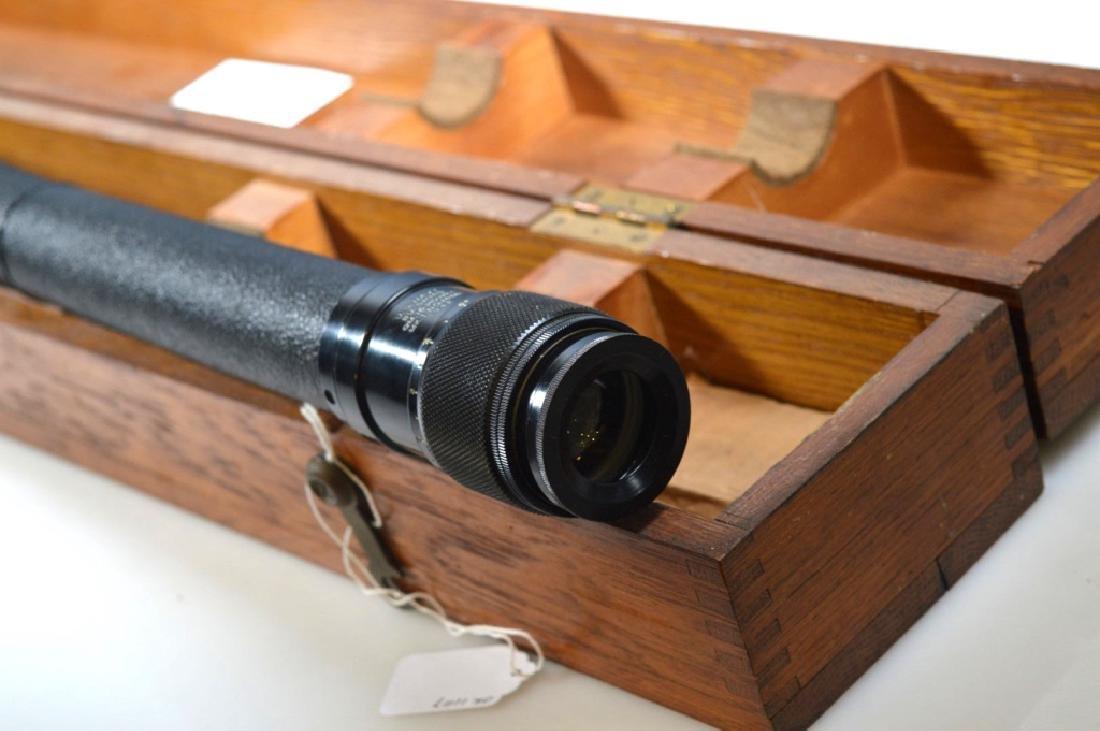 Fee and Stemwedel US Navy Spyglass 1942 Oak Case - 3