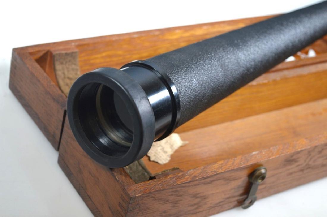 Fee and Stemwedel US Navy Spyglass 1942 Oak Case - 4