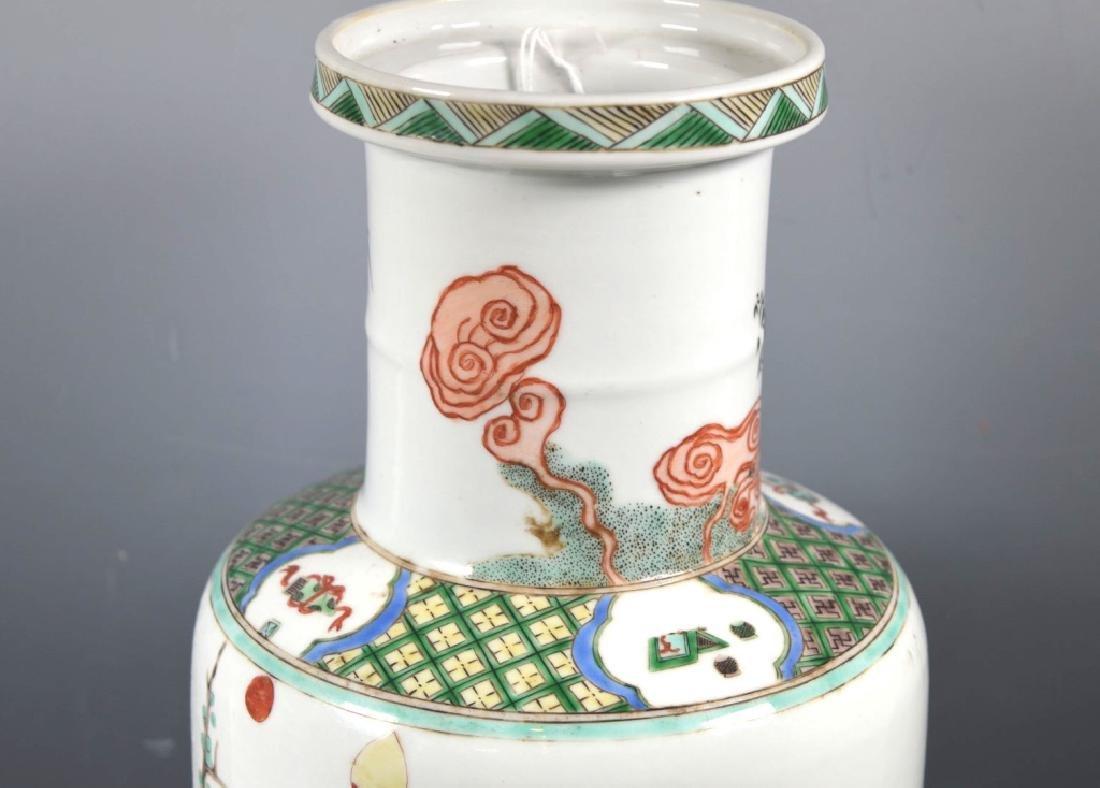 Large Chinese Famille Verte Porcelain Vase - 3
