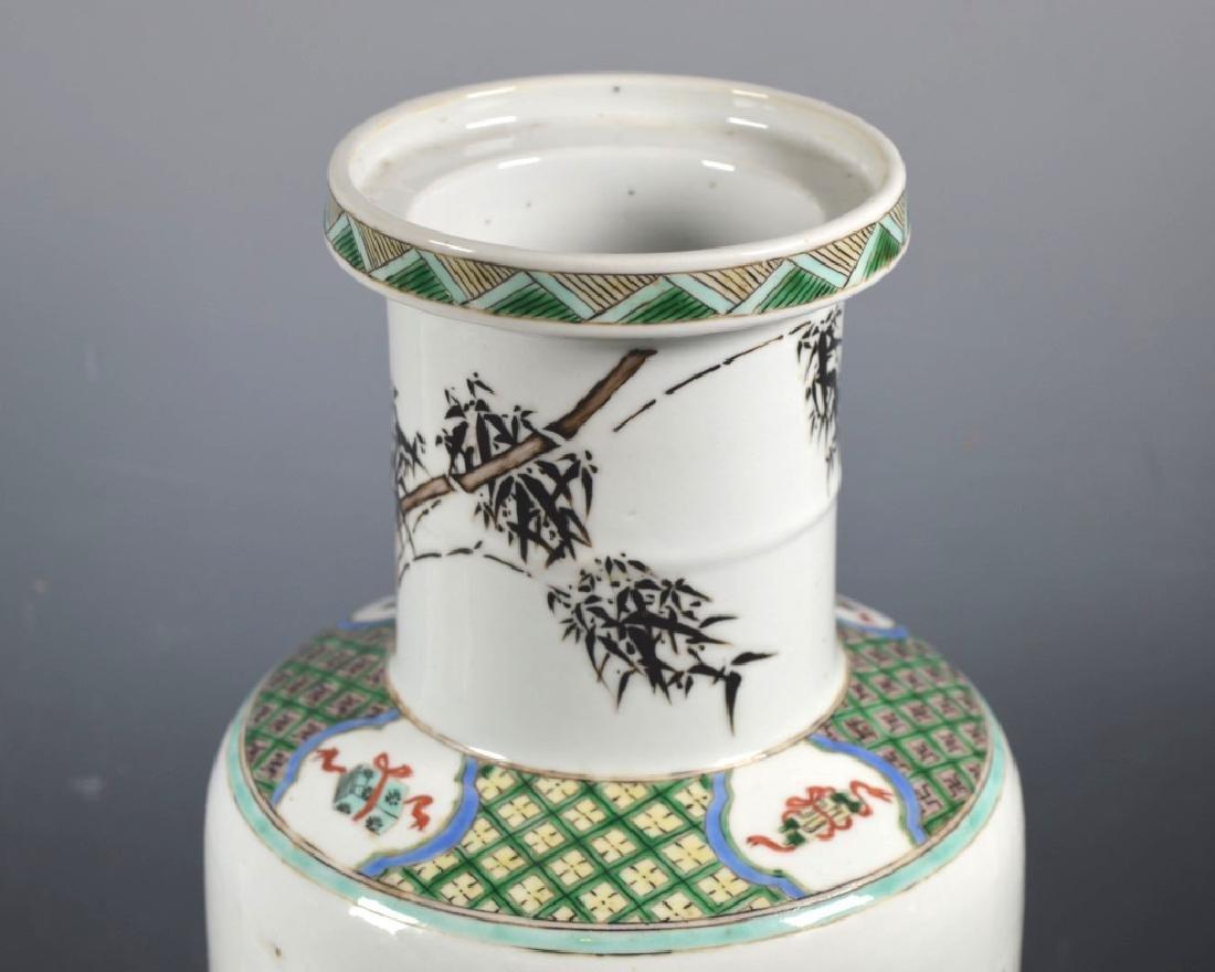 Large Chinese Famille Verte Porcelain Vase - 5