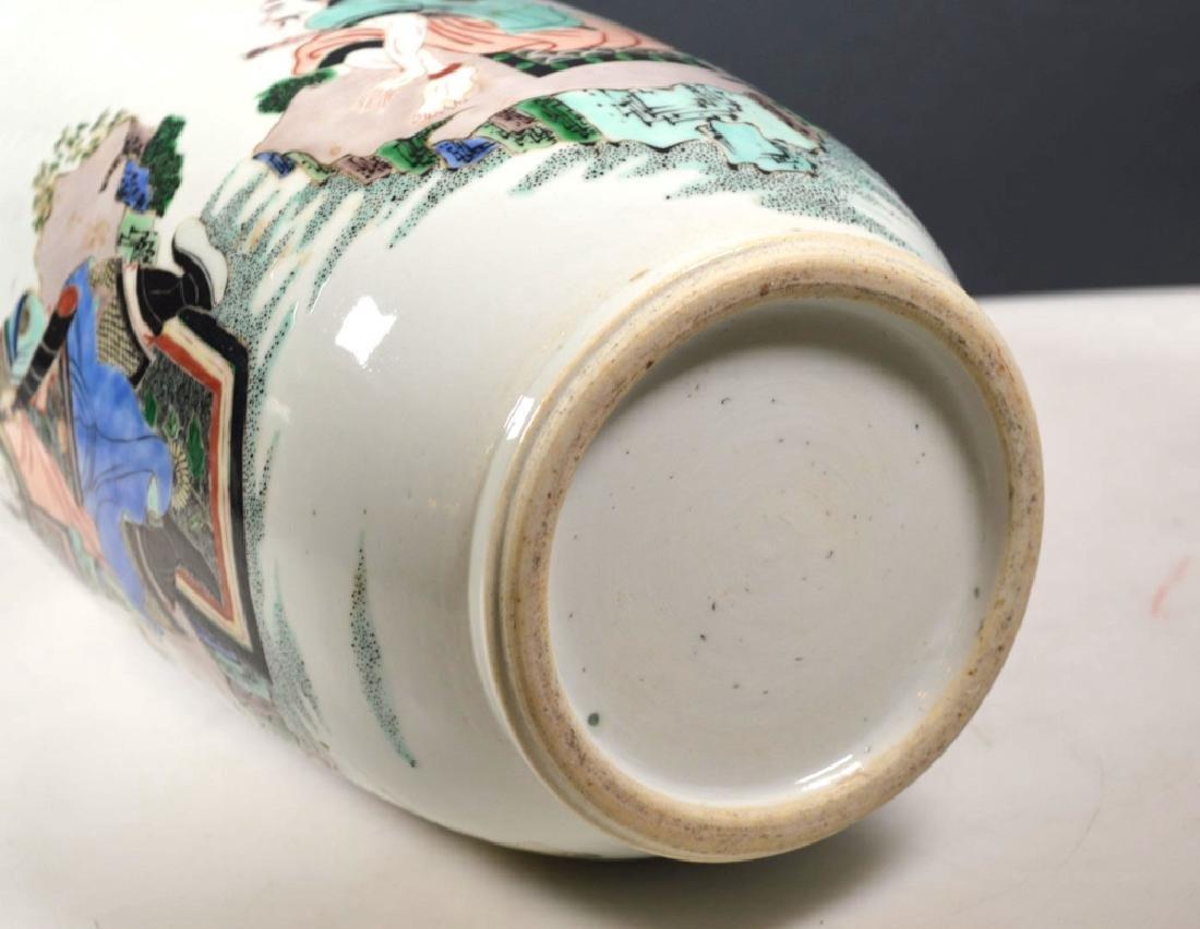 Large Chinese Famille Verte Porcelain Vase - 6