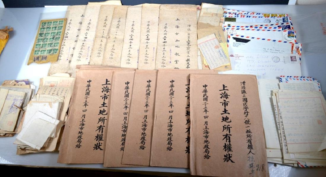 Group Chinese Shanghai Land Documents & Letters