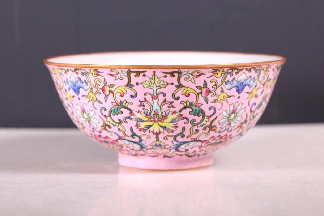 Chinese Famille Rose Enameled Porcelain Bowl