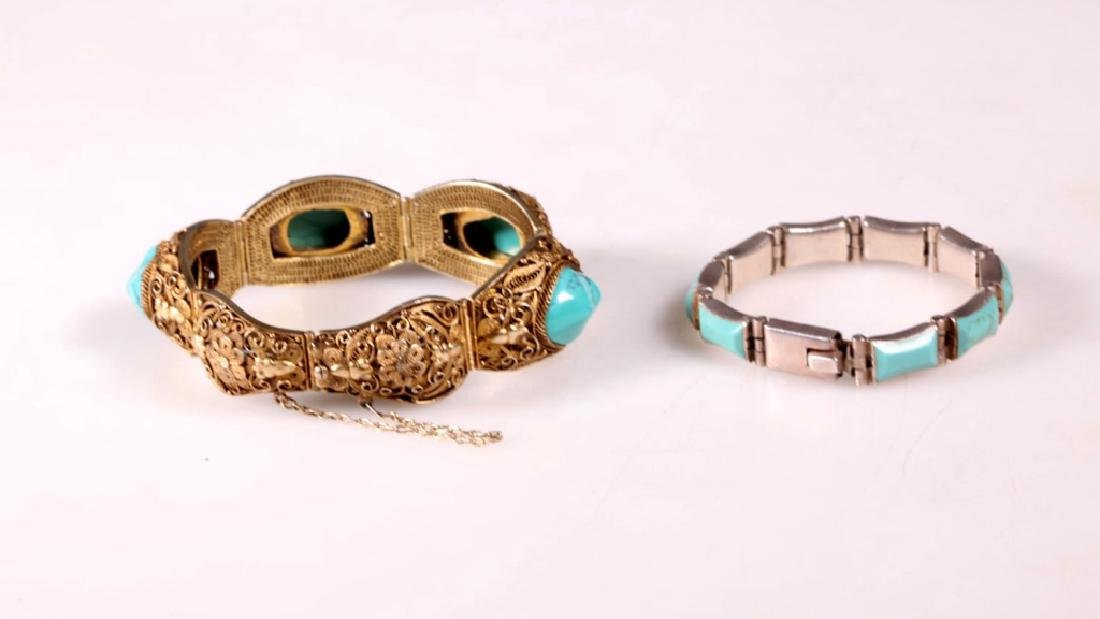 Two Turquoise and Silver Bracelets - 2