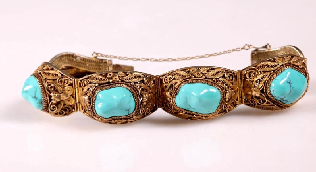 Two Turquoise and Silver Bracelets - 3