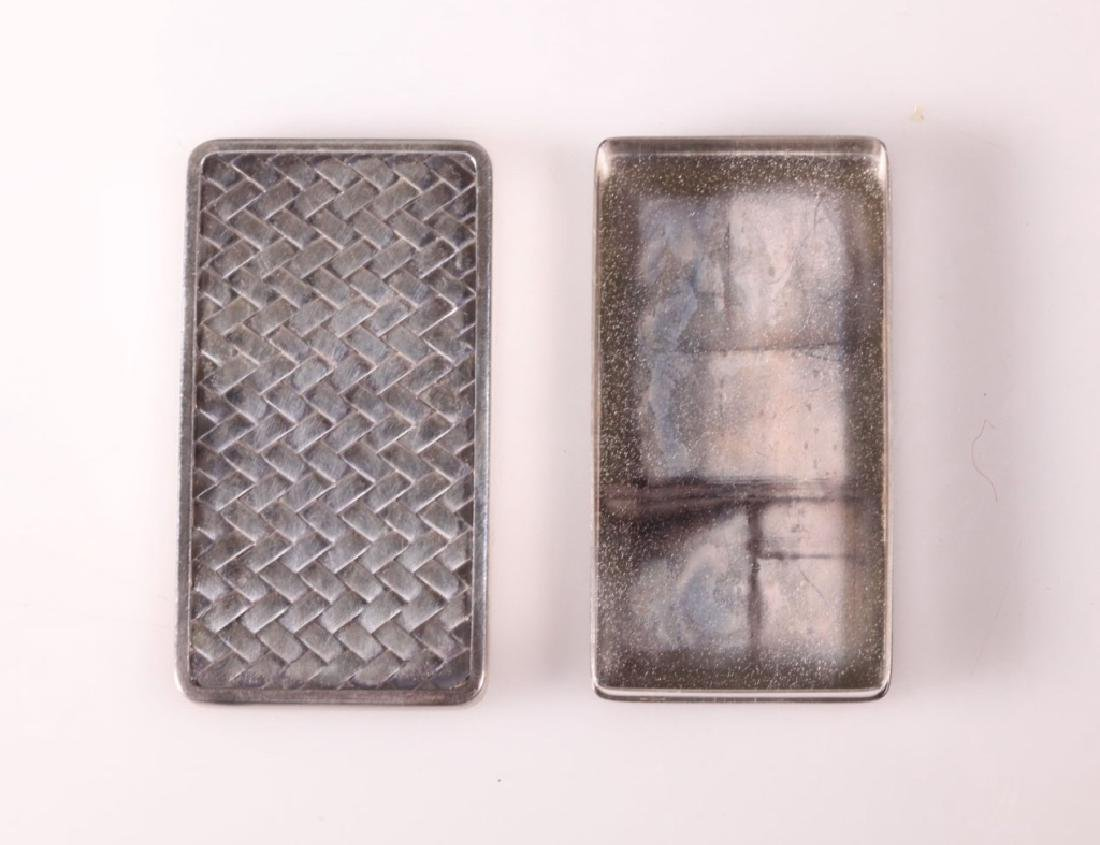 Japanese High Grade Silver Small Box & Cover - 2