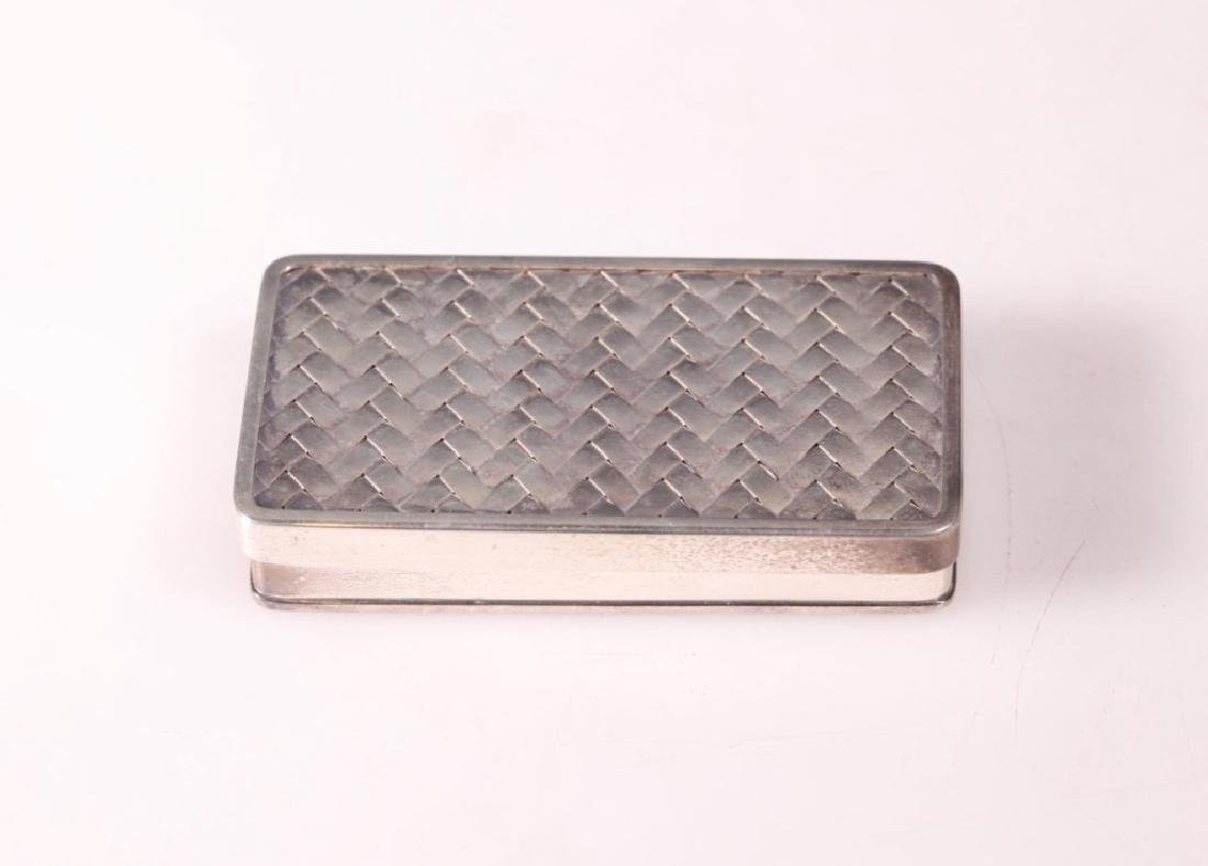 Japanese High Grade Silver Small Box & Cover - 3