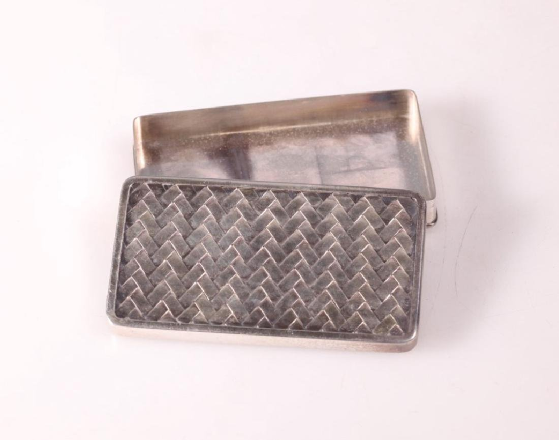 Japanese High Grade Silver Small Box & Cover - 4