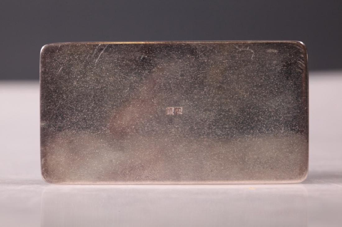 Japanese High Grade Silver Small Box & Cover - 6