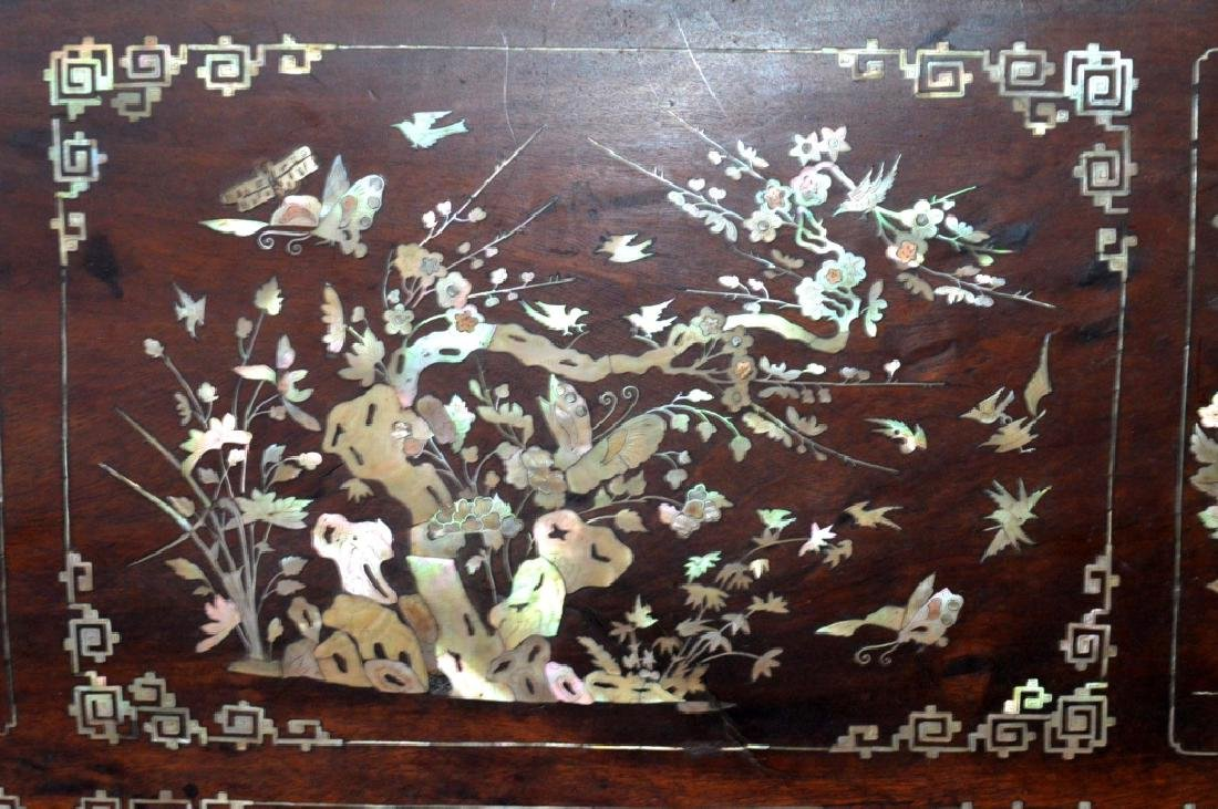 Chinese 19th C Mother-of-Pearl & Hardwood Plaque - 2