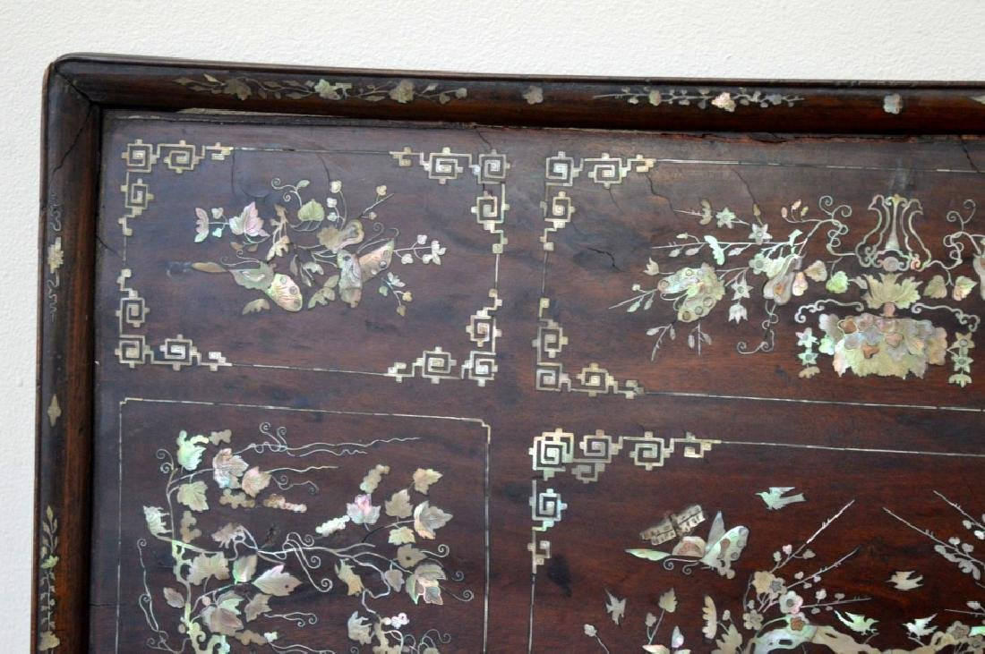 Chinese 19th C Mother-of-Pearl & Hardwood Plaque - 3