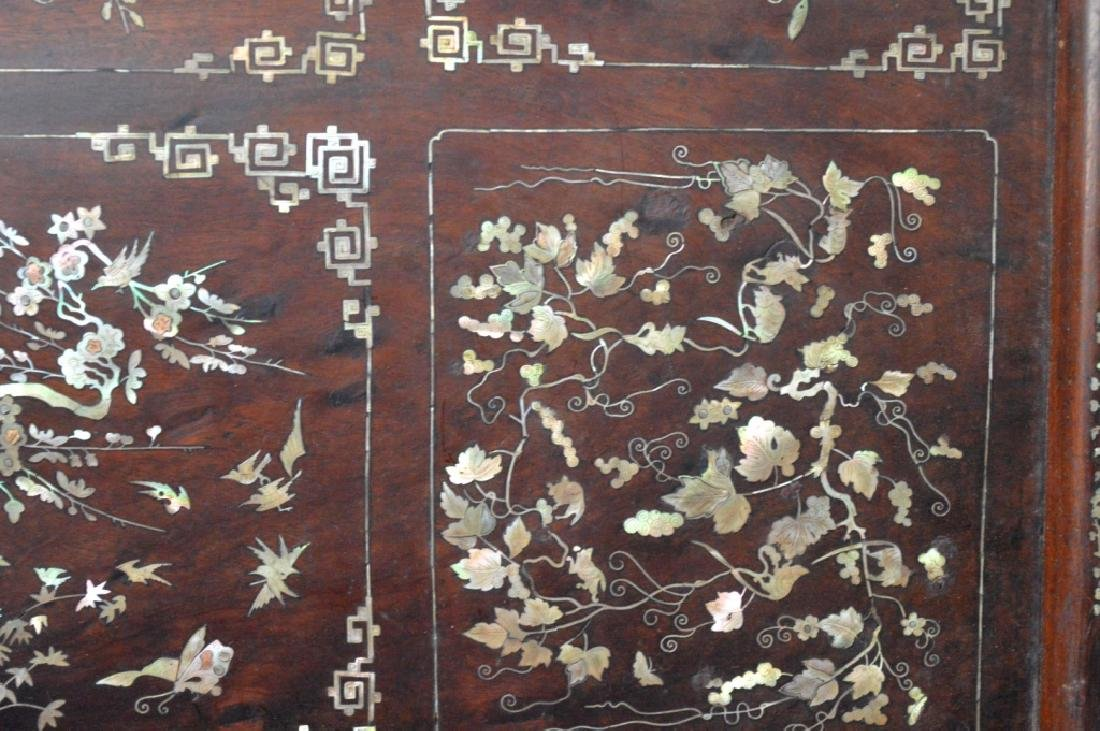Chinese 19th C Mother-of-Pearl & Hardwood Plaque - 4