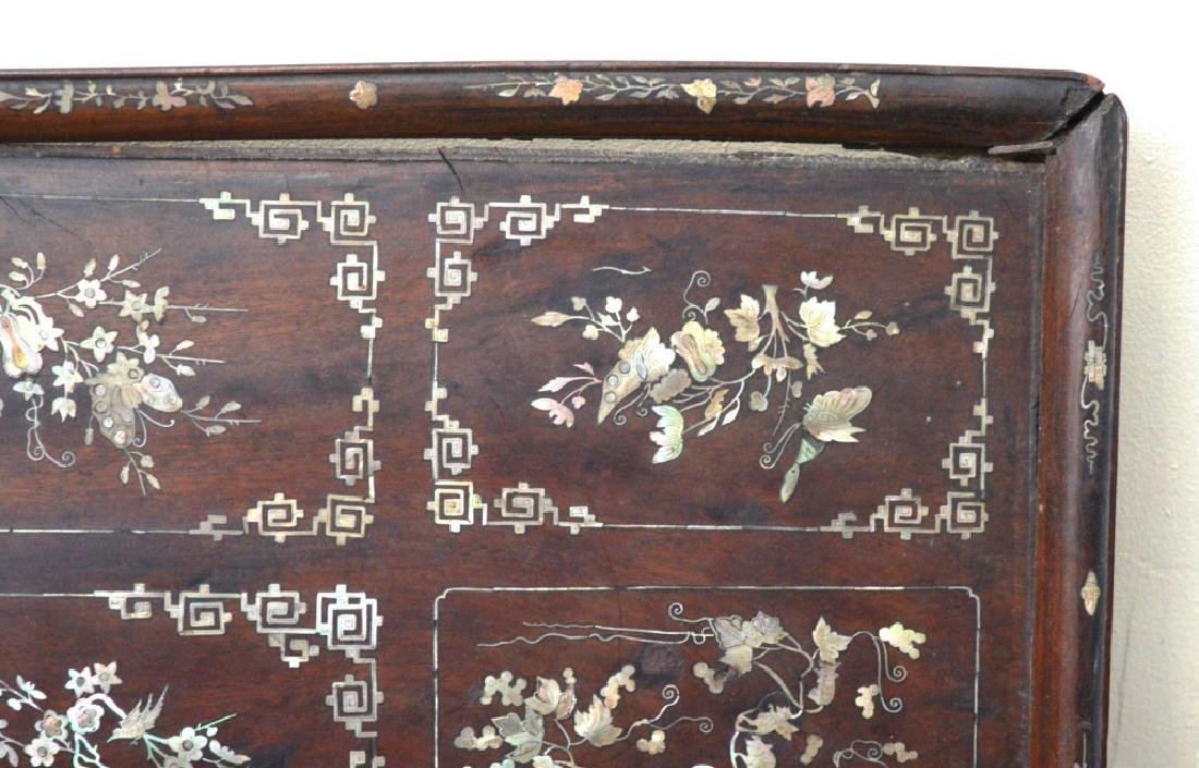 Chinese 19th C Mother-of-Pearl & Hardwood Plaque - 5