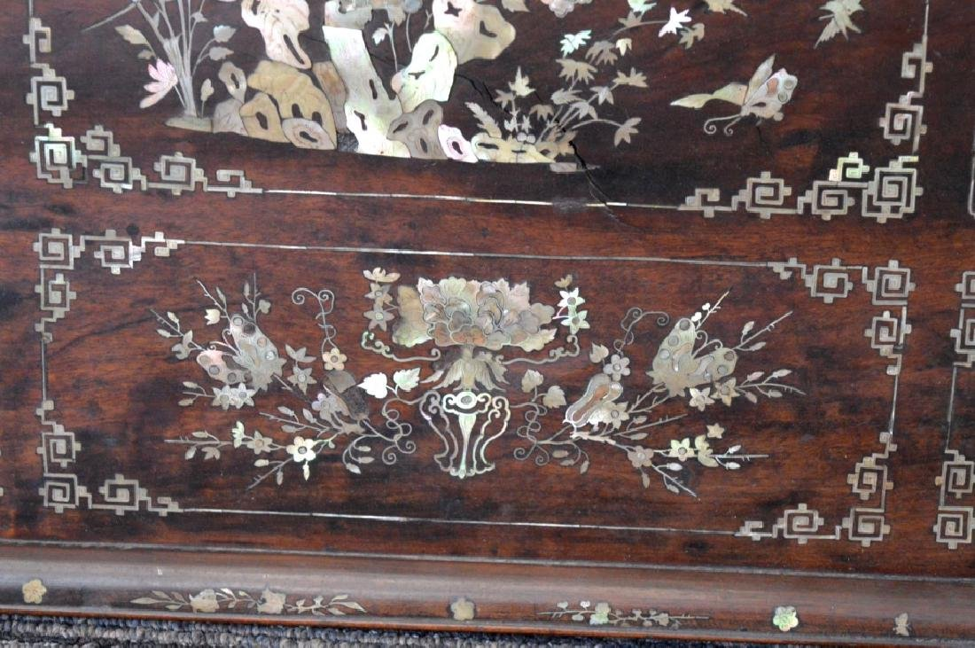 Chinese 19th C Mother-of-Pearl & Hardwood Plaque - 6