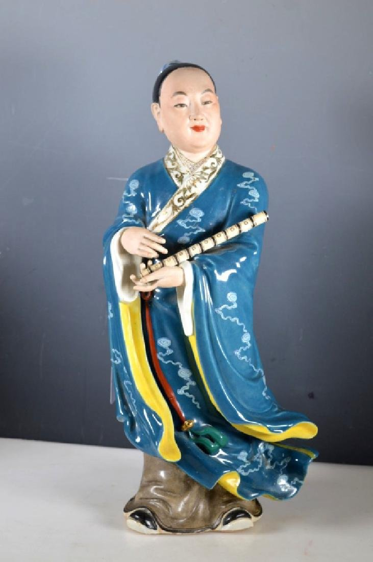 Fine Chinese Enameled Porcelain Standing Immortal